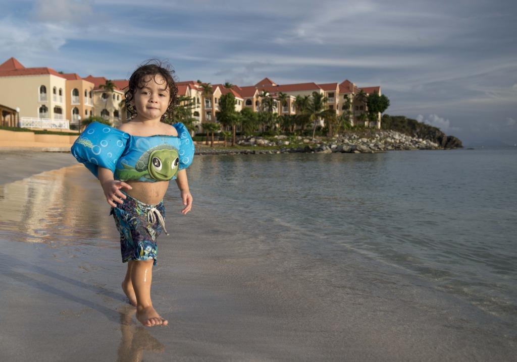 Little Boy at Divi Little Bay on St. Maarten