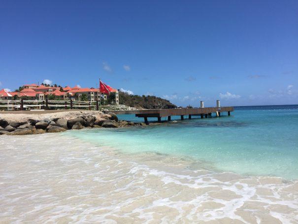 little bay dock from shore