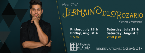 chef jermain de rozario at windows on aruba